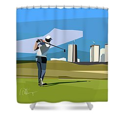 Justin Rose In Rio  Shower Curtain