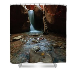 Shower Curtain featuring the photograph Kanarraville Falls by Tassanee Angiolillo