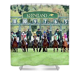 Keeneland Starting Gate Shower Curtain