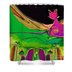 Keeping A Good Eye Out For You Shower Curtain