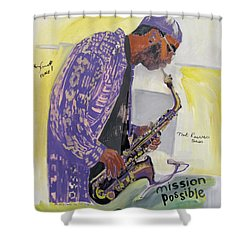 Kenny Garrett Shower Curtain