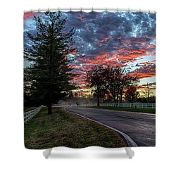 Shower Curtain featuring the photograph Keswick Sunset by Lori Coleman
