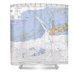 Key West Harbor And Approaches, Noaa Chart 11441 Shower Curtain