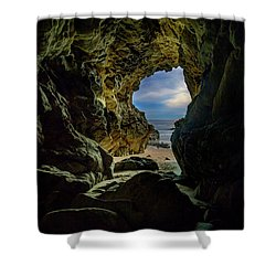 Keyhole Cave In Malibu Shower Curtain
