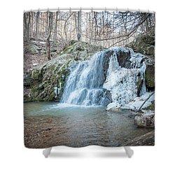Kilgore Falls In Winter Shower Curtain