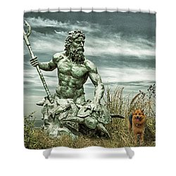 Shower Curtain featuring the photograph King Neptune And Miss Hanna At Cape Charles by Bill Swartwout Fine Art Photography
