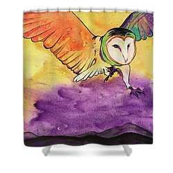 Shower Curtain featuring the painting Kingdom Ambassador by Nathan Rhoads