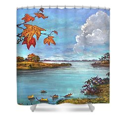 Kites, Clouds And Sailboats Shower Curtain