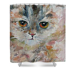 Kitten Portrait Shower Curtain