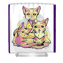Kolorful Kitties Shower Curtain