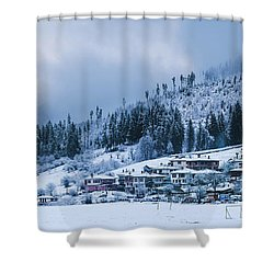 Koprivshtica Winter Panorama Shower Curtain