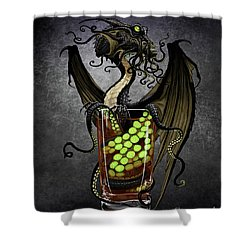 Kraken Storm Dragon Shower Curtain