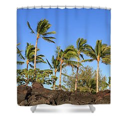 Golden Palms Shower Curtain
