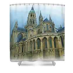 La Cathedrale De Bayeux Shower Curtain