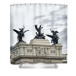 La Gloria Y Los Pegasos Sculptures Shower Curtain