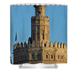 La Torre De Oro Detail. Seville Shower Curtain