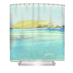 La Tortue, St Barthelemy, 1996_4179, 122x74 Cm, 6,86 Mb Shower Curtain