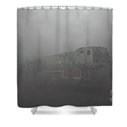 Ladder 5 At A Worker Shower Curtain