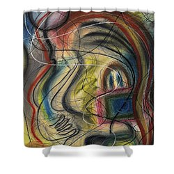 Lady With Purse Shower Curtain