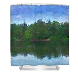 Lake And Trees Shower Curtain