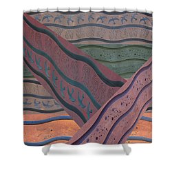 Lake Pat Sign Collage Shower Curtain
