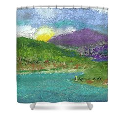 Shower Curtain featuring the photograph Lake View by David Patterson