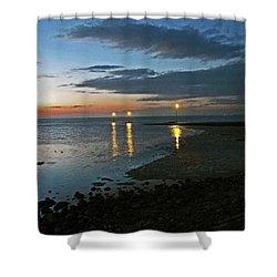 Lancashire. Knott End. Sunset.. Shower Curtain