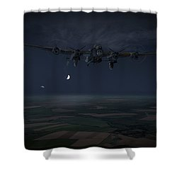Shower Curtain featuring the photograph Lancaster Baleout by Gary Eason