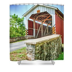 Lancaster Covered Bridge Shower Curtain