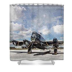 Lancaster Engine Test 2 Shower Curtain