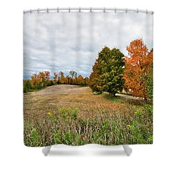 Landscape In The Fall Shower Curtain
