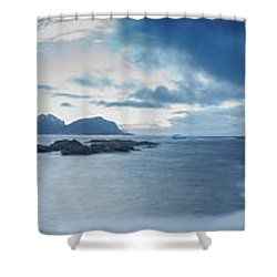 Landscape In The Lofoten Islands Shower Curtain