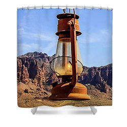 Lantern Over Superstitions Shower Curtain
