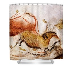 Lascaux Cow And Horse Shower Curtain