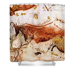 Lascaux Cow And Horses Shower Curtain