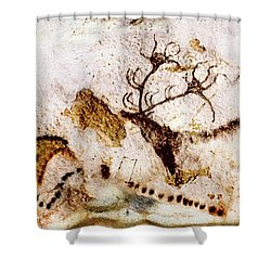 Lascaux Cows Horses And Deer Shower Curtain