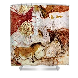 Lascaux Horse And Cows Shower Curtain