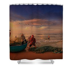 Last Haul For The Day Shower Curtain