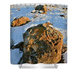 Last Light Of The Day In The Book Cliffs Shower Curtain