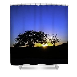 Last Light Texas Hill Country Paradise Canyon Sunset 8053a Shower Curtain