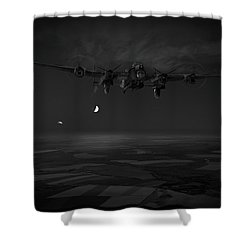 Shower Curtain featuring the photograph Last Man Out Bw Version by Gary Eason