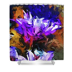 Lavender Flower And The Cobalt Blue Reflection Shower Curtain