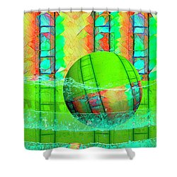 Learning To Swim Shower Curtain