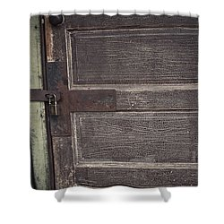 Leather Door Shower Curtain
