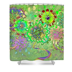 Leaves Remix Shower Curtain