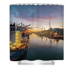 Shower Curtain featuring the photograph Leixoes Harbour by Bruno Rosa