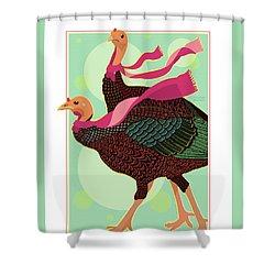 Les Foulards De Cambridge Shower Curtain