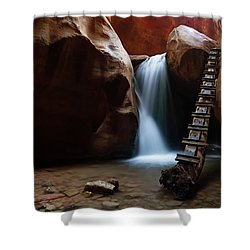 Let It Flow Shower Curtain