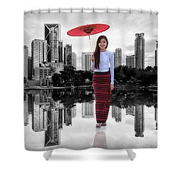 Let The City Be Your Stage Shower Curtain