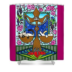 Libra Cat Zodiac Shower Curtain